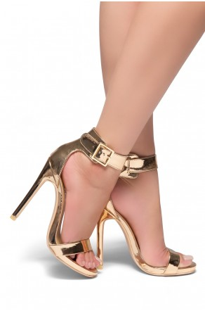 HerStyle Zoanna-Stiletto heel, Strap around the toe, Platform (Rose Gold)