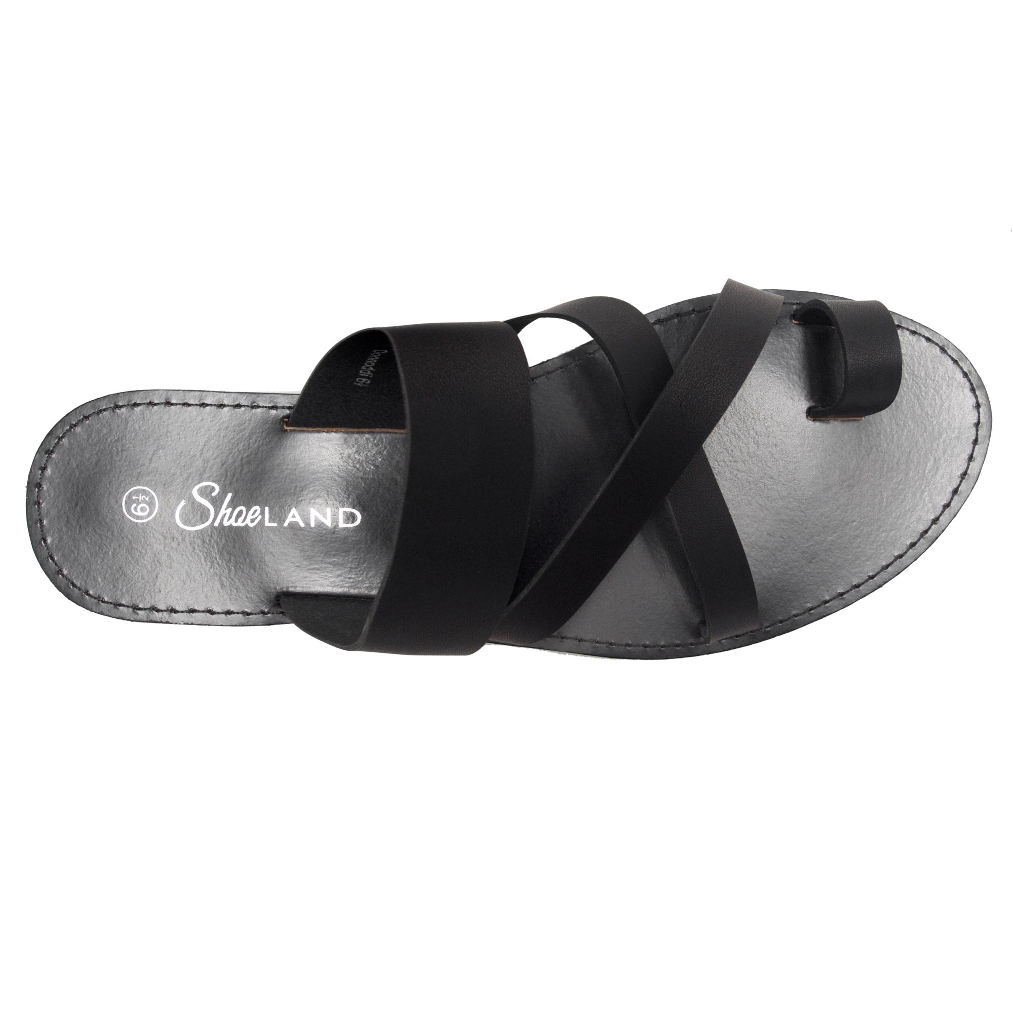 54eeae459d Women's Donnoddi Toe Ring Sandal with Unique Crisscross Straps (Black)