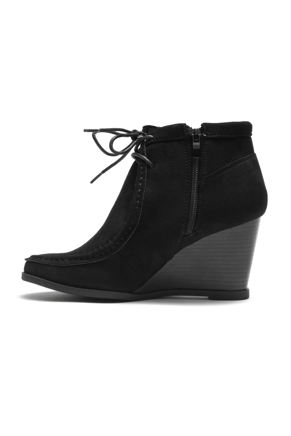 050af2fc6fa0 HerStyle Women s Eaddy Ysabel Lace-up Wedge Chukka Boot(Black)
