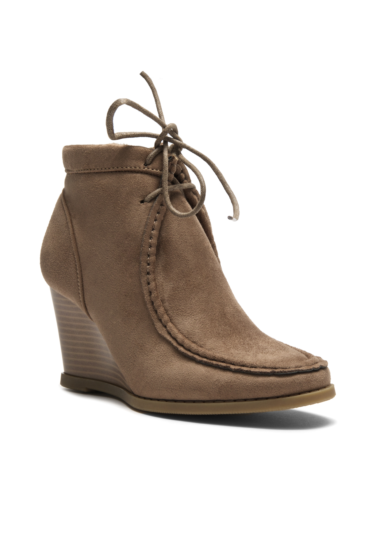 31d54ce4359f ... Women s Eaddy Ysabel Lace-up Wedge Chukka Boot - Khaki ...