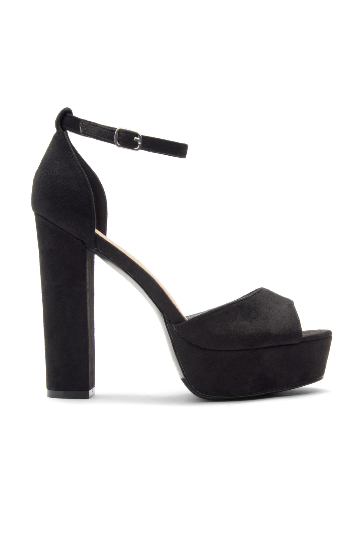 9a91b833ab3 White And Black Heels With Ankle Strap - Js Heel