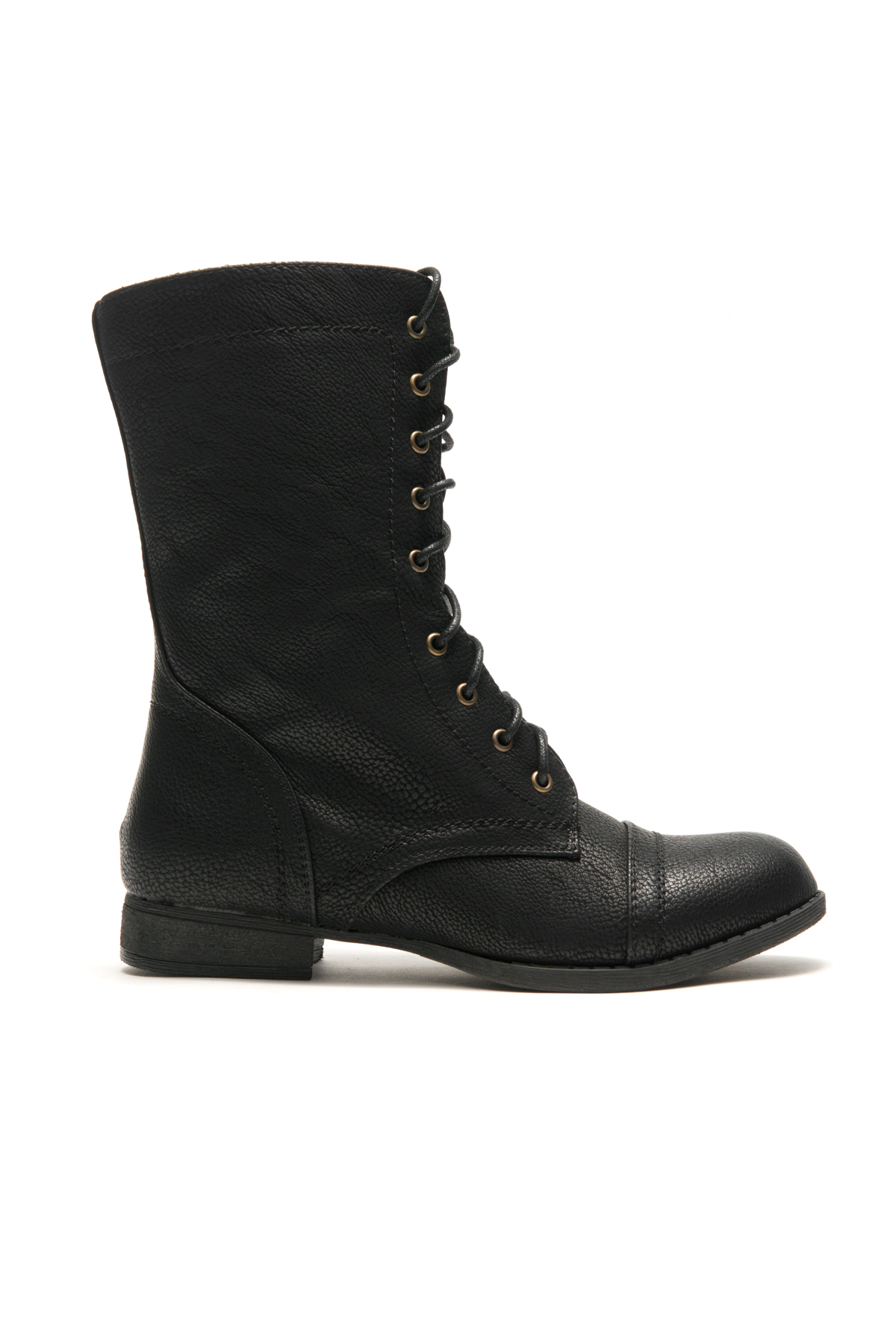HerStyle Korraa-2 Military Lace up Combat Boots