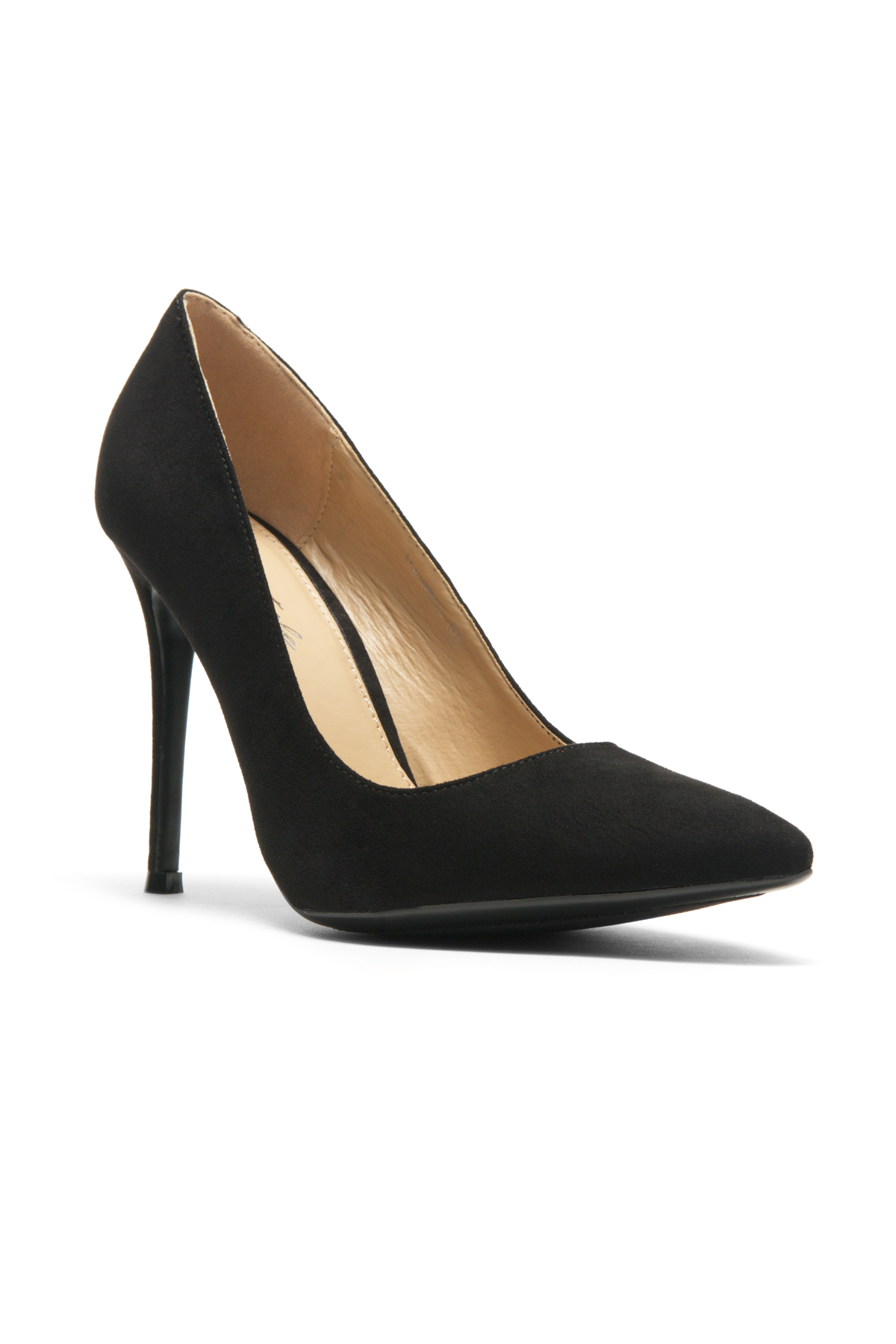 4b666340cda HerStyle Marneena-Women s Manmade 4-inch Sueded Heel with Lightly Pointed  Toe (Black)