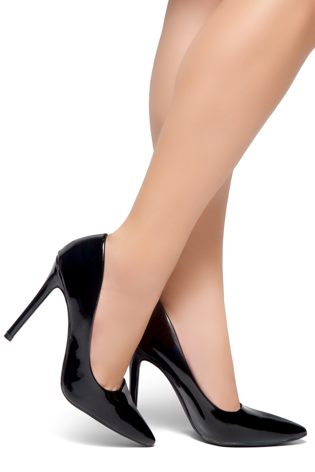 9293fcbef89 HerStyle Marneena-Women s Manmade 4-inch Sueded Heel with Lightly Pointed  Toe (Black PT)