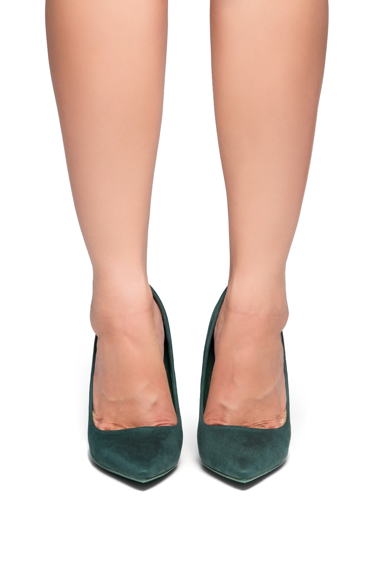 800c1996a1 HerStyle Marneena-Women's Manmade 4-inch Sueded Heel with Lightly Pointed  Toe (F.Green)