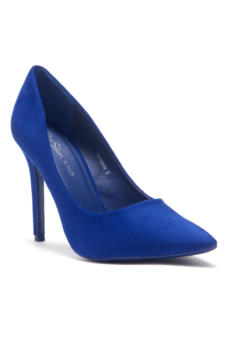 e3c1a9061aa64 Women s Royal Blue Manmade Marneena 4-inch Sueded Heel with Lightly Pointed  Toe