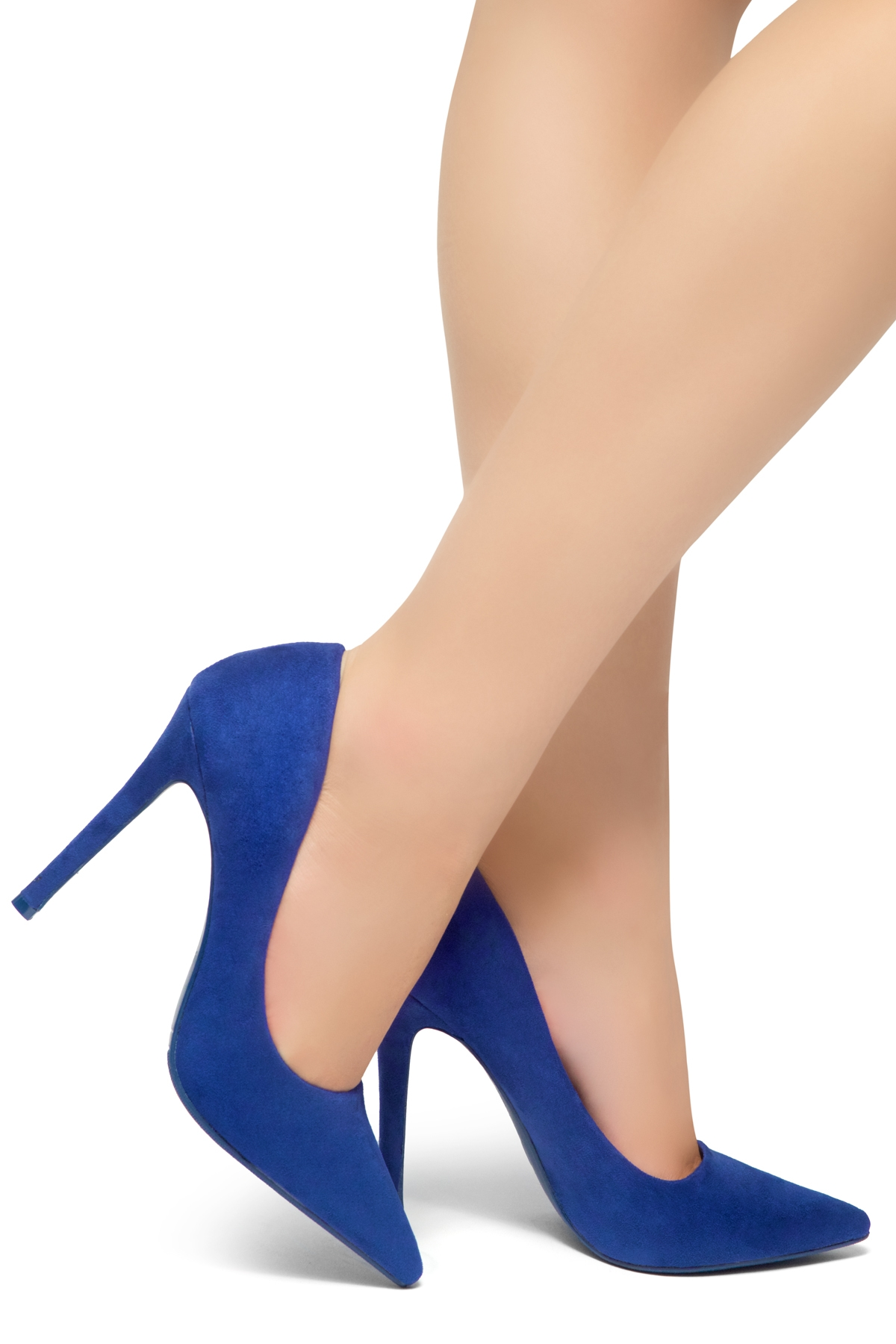 4-inch Sueded Heel with Lightly Pointed Toe