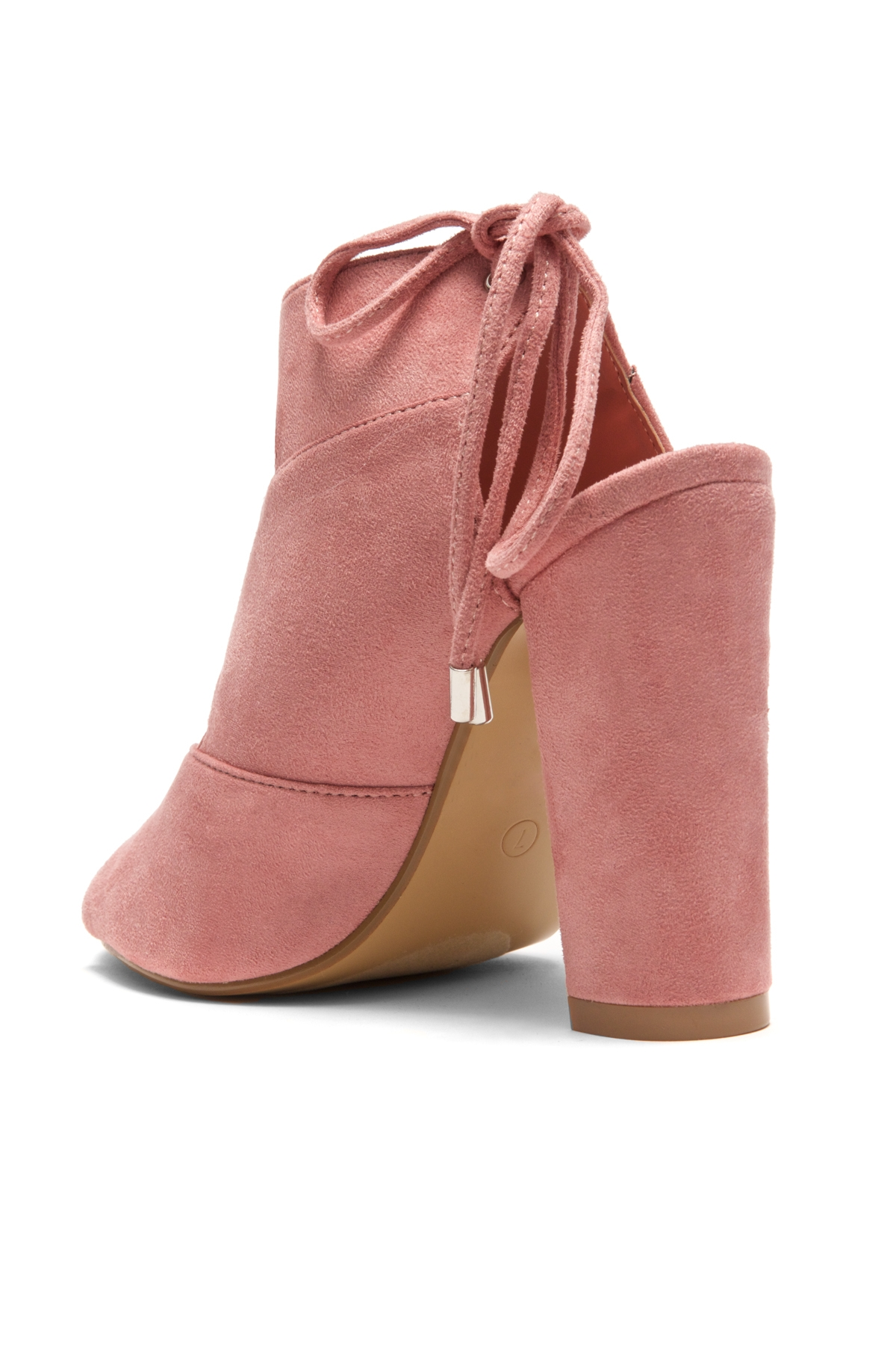 74e05dcd2e7d2 HerStyle Mocha Laser Cut, Chunky Heeled Sandals (Mauve)