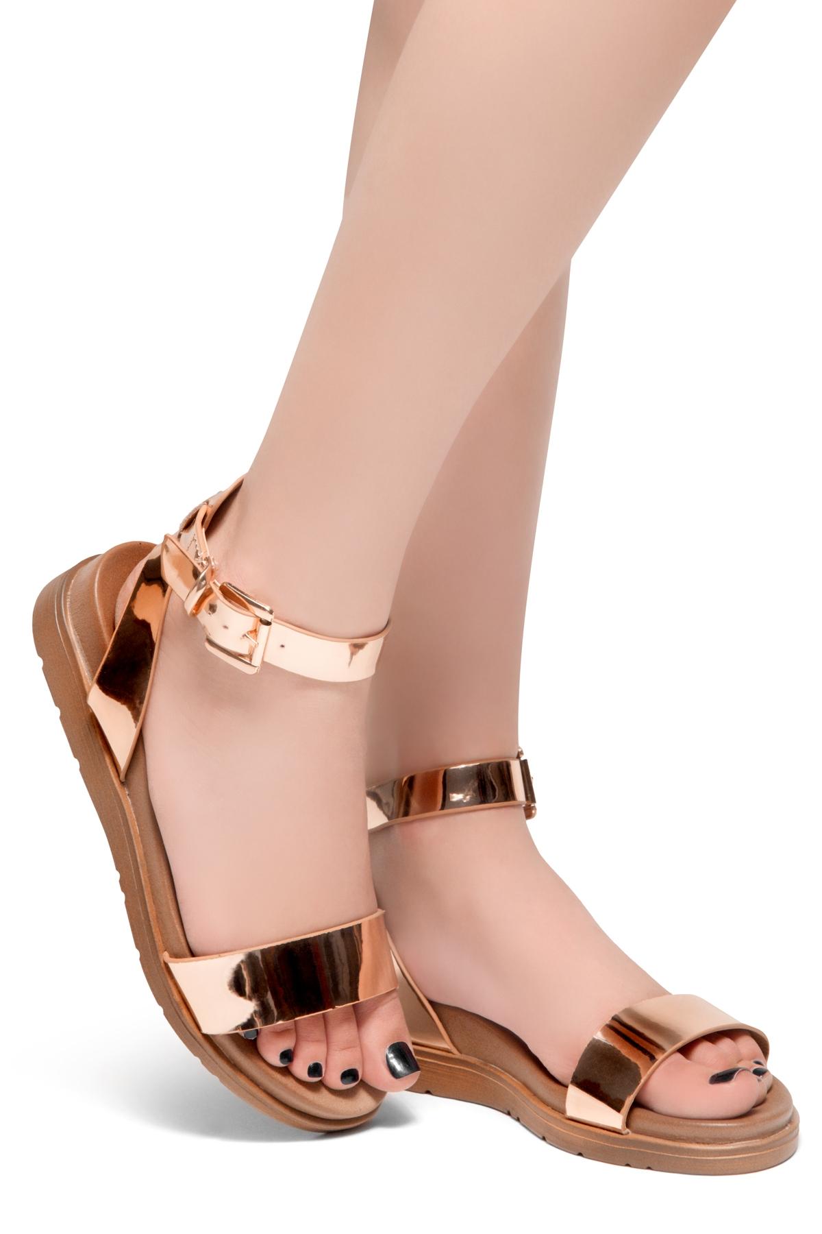 Herstyle Flat Platform Sandalrosegold Me Ankle Strap Needed RqjL5A43