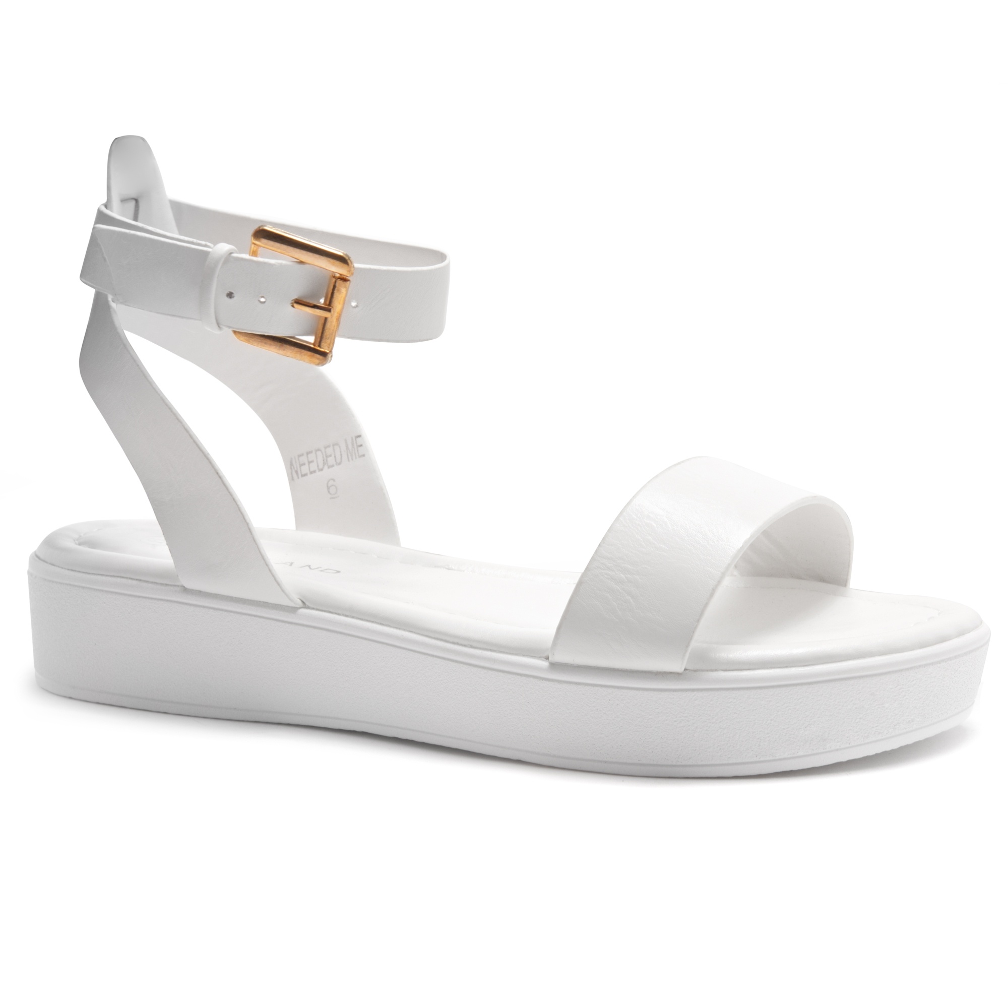 Me Herstyle Needed Strap Sandalwhitewhite Platform Ankle Flat sthCrdQ