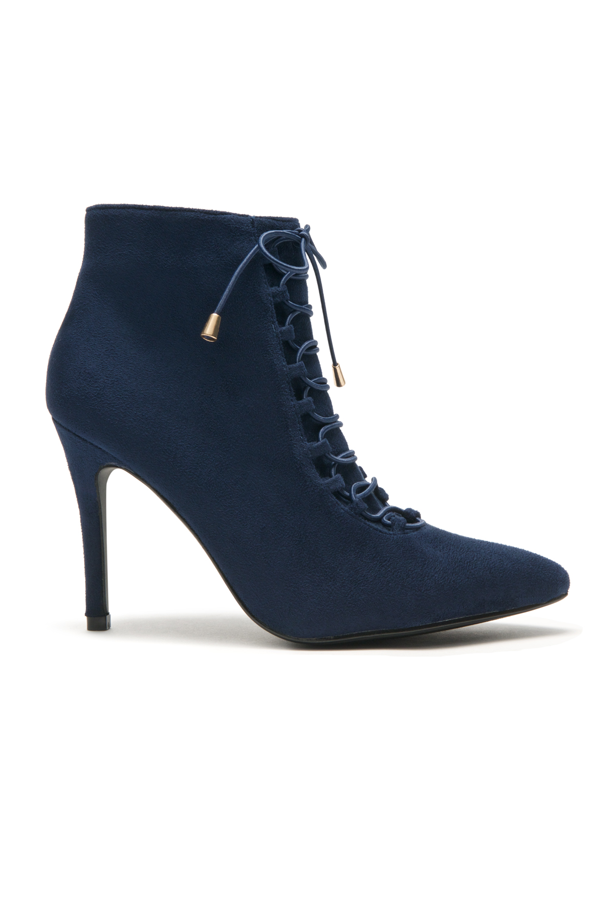 Women's Navy Nerolli Tunis High Heel Ankle Boots, Almond Toe ...