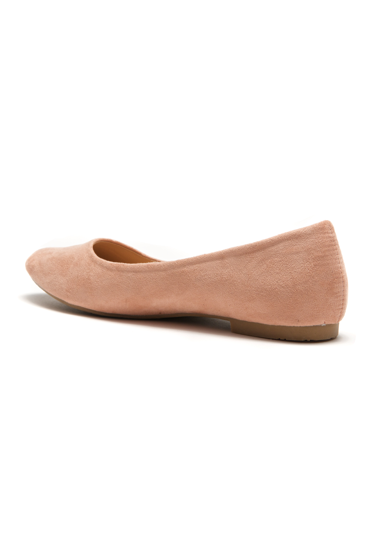 4b7ce2d2b70b ... HerStyle Women s Manmade Nstaffno Simple Faux Suede Pointy Toe Flats -  Pink