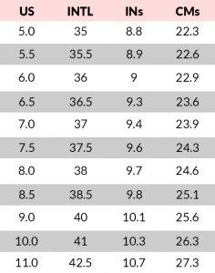 shoeland_size-chart_study-1a