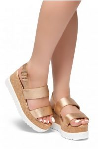 Cork Metallic Wedge
